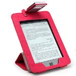 Kindle Touch Pink Case with built-in light and stand